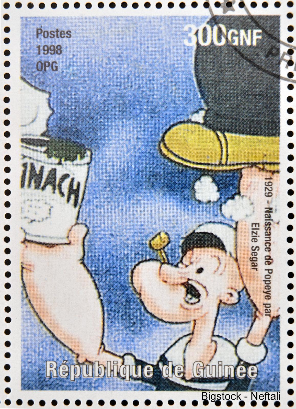 stamp printed in Republic of Guinea commemorates the birth of Po